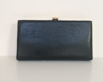 Black Leather Clutch - Black Leather Wallet