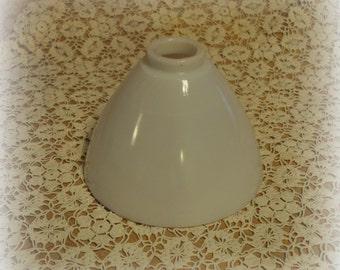 Vintage Milk Glass Lamp Shade, Milk Glass Lighting, Milk Glass Light