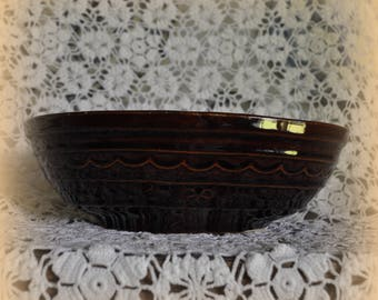 Vintage Mar-crest Oven Proof Stoneware, 10 in. Divided Oval Bowl