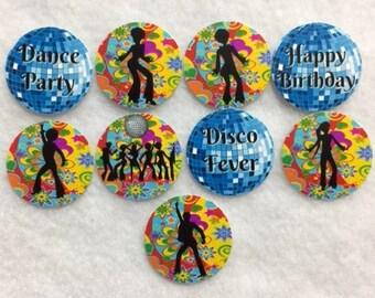 Set of 50/100/150/200 Disco Birthday Party  1 Inch Confetti Circles
