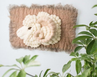 Merino Ram Wall Hanging with Horn