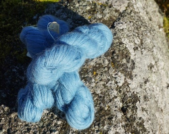 Icelandic pure wool, hand dyed with Indigo 200916-3