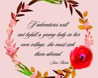 Jane Austen Adventure Quote, Northanger Abbey