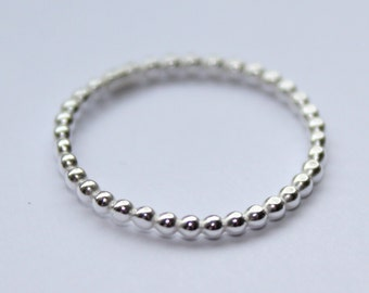 Ball Wire Sterling Silver Ring