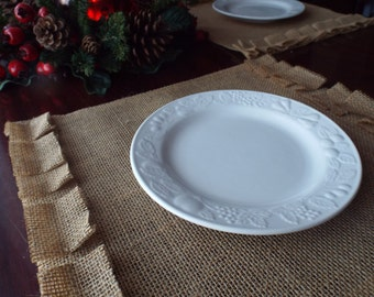 Burlap Placemats, Burlap and Lace Rustic Table Placemat