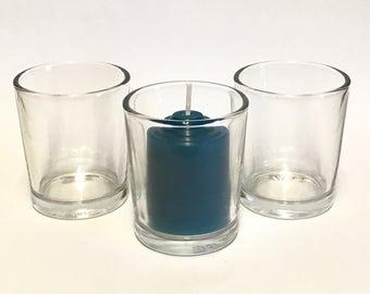 10 Hour Votive Glass Candle Holder Set Of (3 )