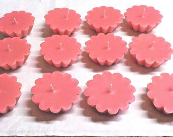 12 Pack of Scented Floating Pink Candles You Pick The Fragrance