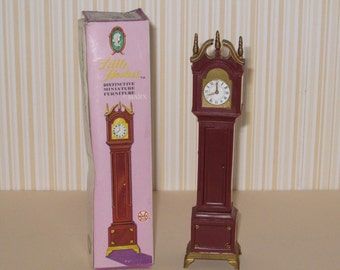 "Vintage MARX ""Little Hostess"" Dollhouse Grandfather Clock with Box"