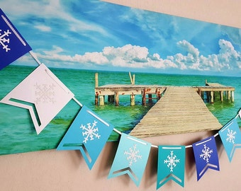 Holiday Banner, Snowflake Banner, Christmas Banner, Winter Banner, Holiday Party, Christmas Party, Winter Party, Winter Wonderland, Holidays