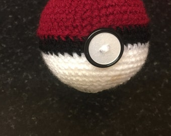 Crochet Pokemon pokeball 25cm polystyrene ball