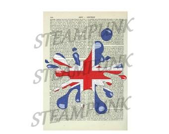 illustration Union Jack - print - art print - painting - wall decor