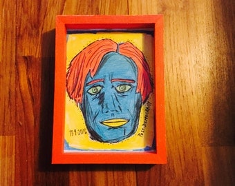 Zombie Hillary Clinton Wall Art--Politics of Disapointment in a Post-Democratic Era of Trump--OOAK--100% Upcycled Materials FREE SHIPPING!