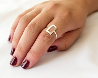Sterling Silver Ring for Women, Sterling Silver Ring Band, Unique Silver Ring for Her, Boho ring, Petite Silver Ring, Bohemian Ring