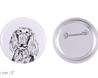 Buttons with a dog -German Longhaired Pointer