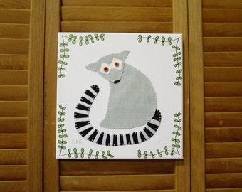 Lemur #1 Fabric Wall Art