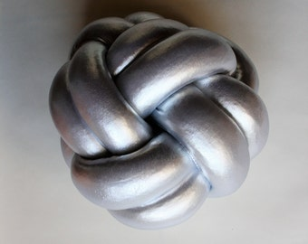 silver pillow,silver cushion, knot pillow,knot cushion