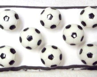 Bulletin Board SOCCER BALL SPORT 8 pc Handmade Decorative Push Pin Thumb Tacks