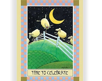 Time to Celebrate - Funny Birthday Card - Single Birthday Cards - 5x7 Birthday Greeting Card - 11016-1