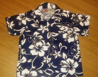 Vintage 90's~Toddler Size Children~Ned Handcraft Fijian~Hawaiian Tapa Shirt Tiki