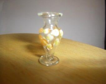 Miniature Glass Bud Vase / 1:12 Scale Dollhouse/ Fairy Garden  Miniatures