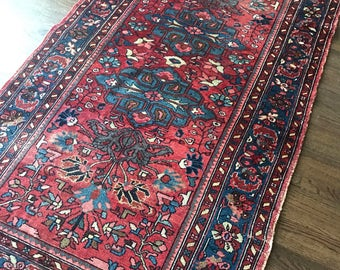 "3'6""x6'6"" Vintage Persian Lilihan Rug"