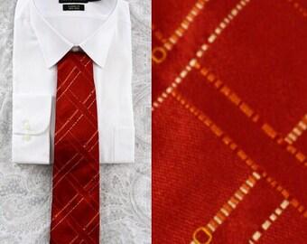 1990s Lancel Red Necktie, Lancel, Red Necktie, Necktie, Tie, Silk Necktie