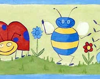 Ladybug Bee GR73513 Wallpaper Border