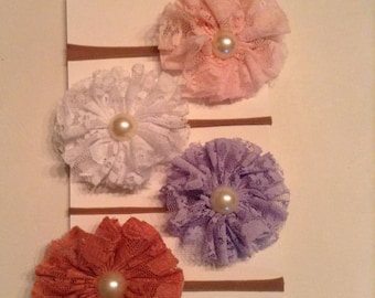4 Grace Lace Flower Girl Headband