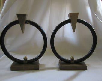Art Deco Metal Candleholders