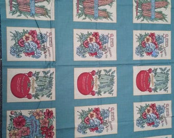 Seed Packet Fabric Panel