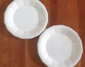 """Two (2) Homer Laughlin COLONIAL WHITE 7"""" Salad / Dessert Plates"""