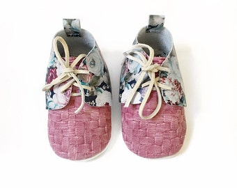 Floral Oxfords - Bay and toddler leather shoes