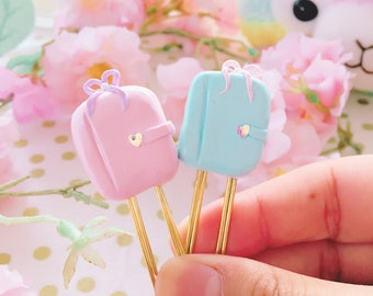Sweet Kawaii Pastel Personal Planners -  Handmade Polymer Clay Charm / Planner Accessories  / Planner Clips