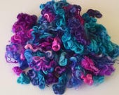 Teeswater Locks - Curls - Hand Dyed Locks - Spinning - Doll Hair - Lockspinning - Wool Locks - Felting - Fiber - Locks - Midnight Peacock