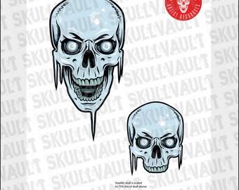 Comic Book Skull Vector Illustration - Frost Skull