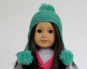 CUSTOM For Natalie - PomPom Beanie, to fit like American Girl Doll Clothes