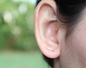 Bar earrings gold, bar earrings silver, minimalist earrings, gold bar earrings, silver bar earrings, stick earrings, line earrings, thin