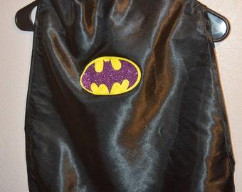 Batman Batgirl cape birthday party