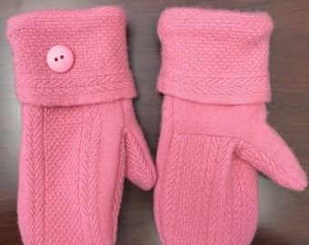 Recycled sweater mittens /Handmade upcycled sweater mittens
