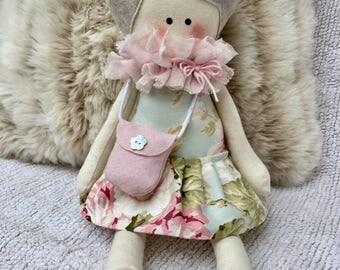 Cloth doll with dress-soft doll