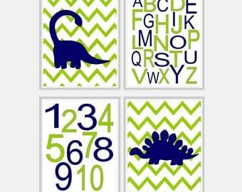 Boy Nursery Wall Art - Dinosaur Nursery Art - Baby Boy Nursery Art - Alphabet Nursery - Dinosaur Nursery Print Dino Art - Pick Size SP2440