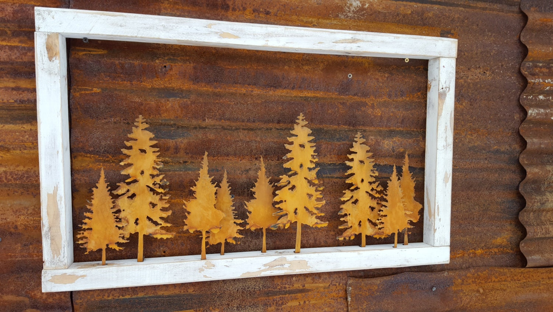 Vintage window cabin decor farmhouse sign tree decor for Home window decorations