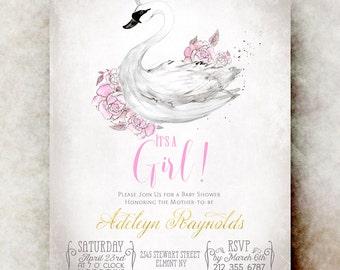 baby shower invitation girl  etsy, Baby shower invitations