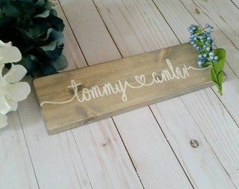 Personalized name sign, wooden sign personalized , family name sign, personalized wedding gift, wood family sign, wood signs personalized