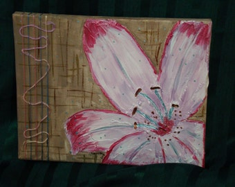 Lily Mixed Media Painting