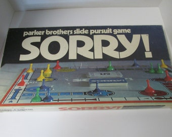 Vintage 1972 Parker Brothers SORRY Board Game