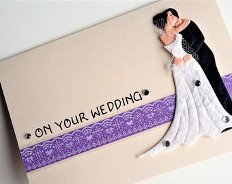 Bride / Groom Card - Wedding card, Congratulations card, Love card, A6 blank card, on your wedding, Marriage card