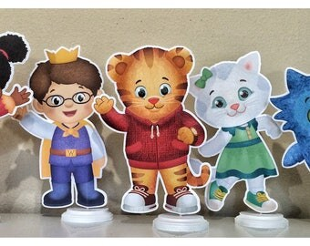 Daniel Tiger's Neighborhood Centerpieces, Daniel Tiger's Neighborhood  Birthday Party