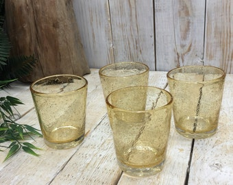 Yellow Hand Blown - 4 Drinking Glasses