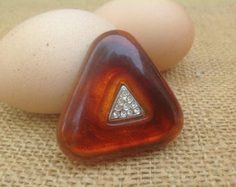 Triangle Shaped Faux Tortoise Pin